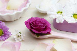 fleur dans cuiller