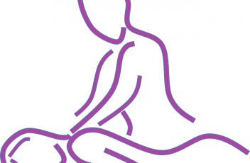 Massage dessin violet