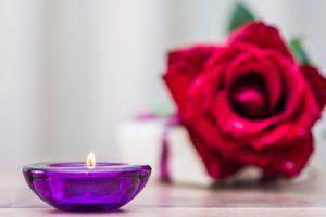 vrai bougie violette